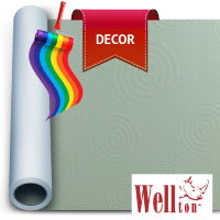 Стеклообои Wellton Decor Круги WD820 1*12,5м