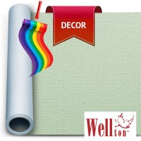 Стеклообои Wellton Decor Циновка WD855 1*12,5м